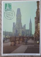 1956  Maxinumkarte Gedächtniskirche - Cartas