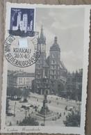 1940 Maximumkarte Krakau Marienkirche - Ocupación 1938 – 45