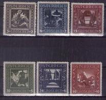 Österreich 1926 Mi.-Nr. 488I - 493I Postfrisch ** Kpl. Satz (A25-075) - Nuevos