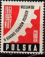 1961 Polnischer Technikerkongreß Mi 1225 / Fi  1081 / Sc 973 / YT 1089 Postfrisch / Neuf Sans Charniere / MNH - Nuovi