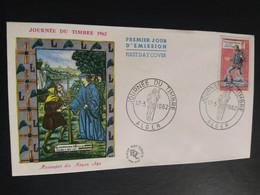 Enveloppe Journée Du Timbre 1962 Messager Royal N° 1332 Alger - 1960-1969
