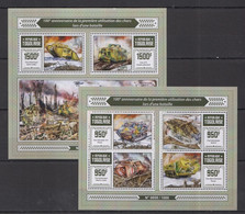 TG245 2016 TOGO TOGOLAISE MILITARY WAR 100TH ANNIVERSARY FIRST USE OF TANKS IN BATTLE KB+BL MNH - WW1
