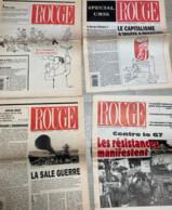 7  N° De Rouge (Hebdomadaire De La L.C.R) De 1989 à 96 : N°1381/1412/1461/1691/1692/1694/ & 1696 (Ligue Communiste Rév - Politica