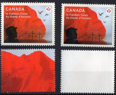 Canada 2015.  IN FLANDERS FIELDS,  100th Anniversary POPPY. MNH - Neufs