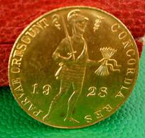 MONNAIE OR . 1 DUCAT 1928 . WILHELMINA . ATELIER UTRECHT . GOLD COIN NETHERLANDS - [ 8] Gold And Silver Coins