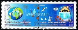ALGERIE ALGERIA - 2v - MNH - COVID-19 - Coronavirus - Epidemic - Pandemic Deseases Health Santé Gesundheit Corona - Enfermedades