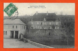 19 Billac 1909 Cpa L'Ecole Et Le Presbytère Sans éditeur Série La Corrèze Illustrée Dos Scanné - Other Municipalities