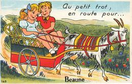 BEAUNE : MULIVUES- AU PETIT TROT EN ROUTE POUR... - Beaune