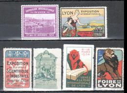 6 Vignettes, Exposition Lyon, 1898, 1914, 1926, 1934 - Andere