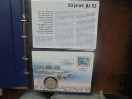SUISSE POSTE AERIENNE+BALLONS TRES BEL ALBUM DIVERS FDC (3069) 1 KILO 600 - Erst- U. Sonderflugbriefe