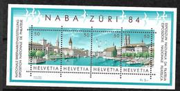Suisse  Bloc N°24 Les N° 1205 à 1208  Neufs * * B/TB = MNH F/VF Voir Scans Soldé Au Poste De La Poste En 1984 ! - Blocks & Sheetlets & Panes