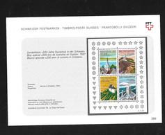 Suisse  Bloc N°25 Les N° 1280 à 1283  Neufs * * B/TB = MNH F/VF Voir Scans Soldé Au Poste De La Poste En 1987 ! - Blocks & Sheetlets & Panes