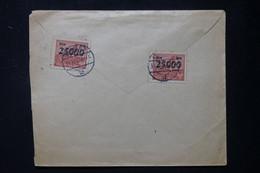 POLOGNE - Enveloppe Pour La France En 1923, Affranchissement Surchargés Au Verso - L 90165 - Briefe U. Dokumente
