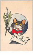 Chat. N° 50191 . 1 Er Mai.chat Noir - Gatti