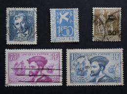 24) Timbres France Oblitérés - Année 1934 Complète - ....-1939