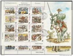 1998-ED. 3560 A 3583-M.P.61A-B -EL  QUIJOTE Por MINGOTE-USADO - Blocs & Hojas