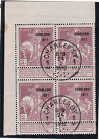 Belgique - COB 103 En Bloc De 4 Obl. Charleroy Charleroi - Sans Trace De Charnière - 1912 - 1910-1911 Caritas