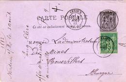 CARTE POSTALE Envoyée De VERDUN En 1883  à BOUSVILLERS  Allemagne - Verdun