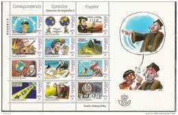 2001-ED. 3822 A 3833  EN MINIPLIEGO-M.P. 76-CORRESPONDENCI EPISTOLAR ESCOLAR.HISTORIA DE ESPAÑA DE GALLEGO Y REY-NUEVO - Blocs & Hojas
