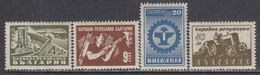 Bulgaria 1947 - Activites Industrielles, YT 566/69, Neufs** - Unused Stamps