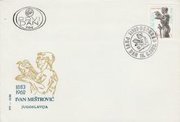 YOUGOSLAVIE FDC 1983 SCULPTURE DE IVAN MESTROVIC - FDC