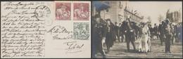 "Caritas - N°84 Et 89 X2 Sur CP Vue Obl Simple Cercle ""Ostende (Kursaal)"" > Ypres - 1910-1911 Caritas"