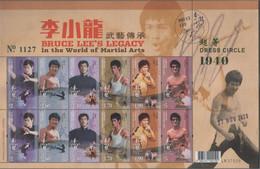 China Hong Kong 2020 Bruce Lee's Legacy In The World Of Marttial Arts Stamp Sheetlet MNH - Nuevos