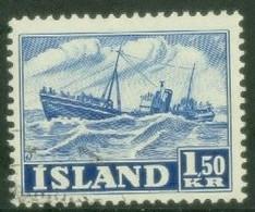 Iceland 1950; Fishing Boat - Michel 268, Used. - Gebraucht