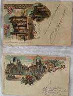 Lot De 2 Cartes -souvenir De Bourges-379 380 - Gruss Aus.../ Gruesse Aus...