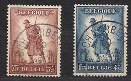 Belgie Belgique 1932 Yvertn° 351-352 (°) Oblitéré Cancelled Cote 160 € Infanterie - Usados
