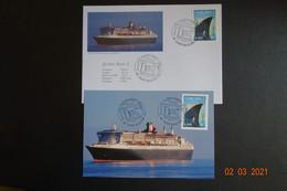 FDC +CARTE MAXI QUEEN MARY 2003 - 2000-2009