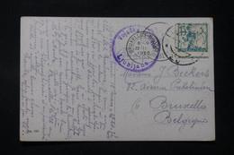 YOUGOSLAVIE - Affranchissement ( Variété Piquage Décalé ) De Ljubljana Sur Cp En 1920 Pour La Belgique - L 90174 - Briefe U. Dokumente