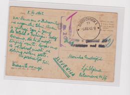 YUGOSLAVIA,1945 CROATIA DUBROVNIK Censored Postcard Paid In Cash - Neufs
