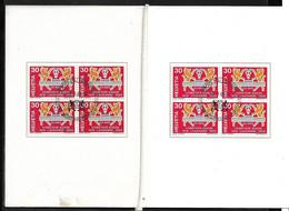 Suisse Carnet  N°830 2 Blocs De 4 Foire De  Lausanne FDC Premier Jour Le 13/09/1969 B/ TB  Voir Scans Soldé  ! ! ! - Briefe U. Dokumente