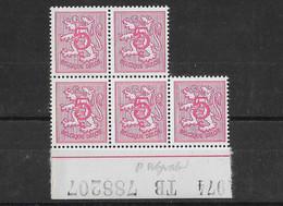 Bloc De 5 N° 1684 P6**. - 1951-1975 Lion Héraldique