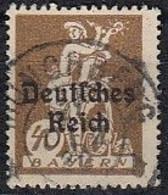 DR 124, Gestempelt, Geprüft, Bayern Aufdruck 1920 - Infla