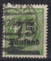 DR 287 A, Gestempelt, Geprüft, Aufdruckausgaben 1923 - Infla