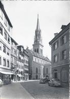 St.Gallen - St.Laurenzenkirche  (VW Käfer)           Ca. 1950 - SG St. Gallen