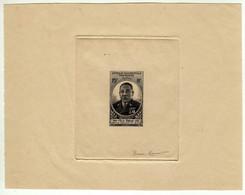Afrique Oc. Fran. : Epreuve De Luxe : Félix Eboué : 25f Essai Couleur Noir : Format 15,5 X12 : Signé Pierre Meunier - Storia Postale