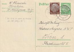 Occupation Allemande En Pologne Entier Postal Krakau Pour L'Autriche 1939 - Ocupación 1938 – 45