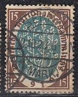 DR 108, Gestempelt, Geprüft, Nationalversammlung Weimar 1919 - Infla