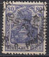 DR 149 A II, Gestempelt, Geprüft, Germania 1920 - Infla