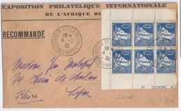 Algérie - Carnets - Mosquée Pécherie 50c Bleu - Bloc De 6 Sur Enveloppe - Lettres & Documents