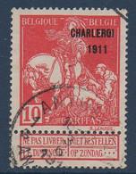 BEL Exposition Charleroi 1911   N°COB 107 Obl. - 1910-1911 Caritas
