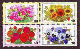 1976. BRD. Garden Flowers. MNH. Mi. Nr. 904-07. - Nuevos