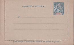 SULTANAT D'ANJOUAN    ENTIER POSTAL/GANZSACHE/POSTAL STATIONARY CARTE-LETTRE - Lettres & Documents