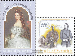 Austria 2265,2266 (complete Issue) Unmounted Mint / Never Hinged 1998 Sissi, Kudlich - 1991-00 Nuevos & Fijasellos