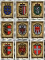 Austria 1522-1530 (complete Issue) Unmounted Mint / Never Hinged 1976 1000J. Crest - 1971-80 Nuevos & Fijasellos