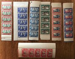 Wallis Et Futuna N°107, 109, 113, 115, 117, 118 Et 127 Neuf** En Bande De 5 - Cote 240€ - (B3469) - Unused Stamps