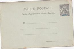 SULTANAT D'ANJOUAN   ENTIER POSTAL/GANZSACHE/POSTAL STATIONARY CARTE - Lettres & Documents